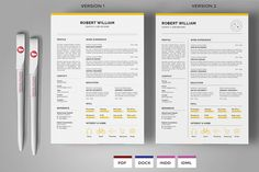 Resume & Cover Letter Template by fahmie on @creativemarket #resumes #template #cv