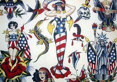 American Tattoo Art Flash
