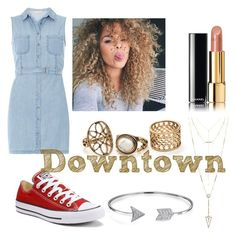 """""""Downtown goals"""" by miahwithstyles on Polyvore featuring Dorothy Perkins, Converse, Chanel, House of Harlow 1960 and Bling Jewelry"""