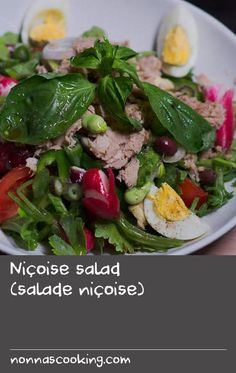 The key ingredients in any salad Niçoise are tuna, tomato, olives and egg. The recipe is French to its core - originally from Provence, it is now found in various incarnations on restaurant menus everywhere. Tomato Salad Recipes, Nicoise Salad, Fava Beans, Seafood Salad, Menu Restaurant, Egg Recipes, Olives, Tuna, Provence