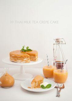Thai Milk Tea Crepe Cake