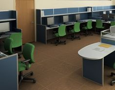 Computer lab layout by Interior Concepts.