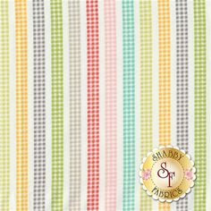 Flower Mill 29036-11 Gingham Stripe Daisy by Corey Yoder for Moda Fabrics: Flower Mill is a fun floral collection by Corey Yoder for Moda Fabrics.Width: 43