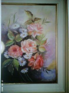 Solange Gama Coelho: Pintura em Tela,Tecido,Cursos-9196-6422(Claro),9854-3743(Tim)-Curitiba: Pintura em tela: rosas