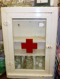vintage red cross medical chic