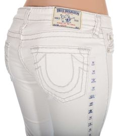 True Religion Womens Legging Jeans Size 27 Super T in Optic White NWT $328 #TrueReligion #Leggings