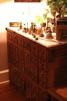 Vintage Library Card Catalog by luella