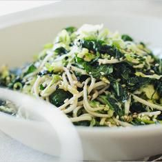Kale Brussels Sprout Soba Noodles