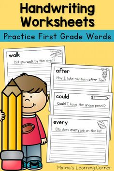 Handwriting Worksheets for Kids: First Grade Sentences - includes 4 free sample pages!