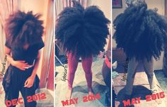 Is natural hair blogger IgboCurls on to something? She recently posted three side-by-side photos of her hair over the course of two and a half years, but instead of highlighting the length she refe…