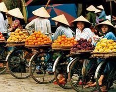 Fruits on #bikes  Hanoi, Vietnam  #ProductivePedals