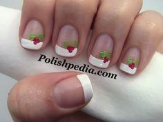 Christmas Holly Nail Art | Polishpedia: Nail Art | Nail Guide | Shellac Nails | Beauty Website