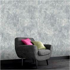 Decomode vliesbehang Beton midden grijs