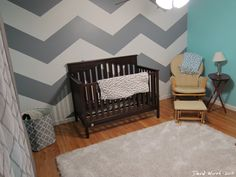 Paint ZigZag wall.  Chevron pattern for baby room
