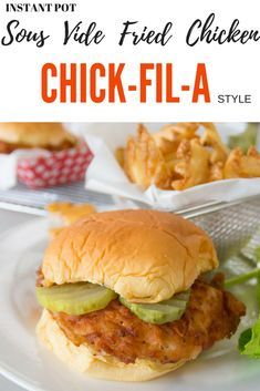 Sous Vide Fried Chicken Chick-Fil-A Style Sous vide fried chicken Chick-Fil-A style, in your Instant Pot Ultra or sous vide device. Sous Vide Fried Chicken, Fried Chicken Breast, Roasted Chicken, Sous Vide Chicken Wings, Chicken Sandwich Recipes, Easy Chicken Recipes, Fried Chicken Sandwich, Sous Vide Burgers, Instant Pot Sous Vide