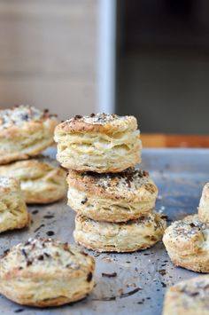 Spicy Tomato Soup & Everything Biscuits – Sarah Waldman Spicy Tomato Soup Recipe, Cupcakes, Tasty, Yummy Food, Everything Bagel, Bon Appetit, Doughnut, Food To Make, Cereal