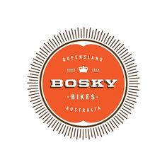 bosky logo :: bike shop logo by marguerite