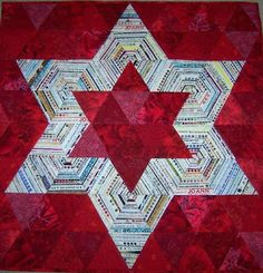 """Edda's selvage star quilt! This is a beauty! Measures 34"""" square."""