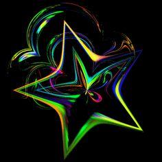Rainbow Stars | rainbow star photo Animated-Fractal.gif
