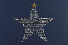 In diesem Stern, der die #Weihnachtskarte ziert, steckt mehr als ein schöner Anblick... Hier sind im Stern viele gute Wünsche verborgen! Movie Posters, Creme, Happy New Year, Merry Little Christmas, Company Christmas Cards, Teamwork, Catchphrase, Company Logo, Colors