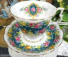ROYAL ALBERT GARLAND SERIES SENSATION  TEA CUP AND SAUCER