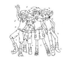 Digimon boys drawing by nayru-xb7