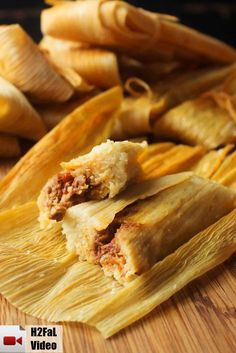 The authentic homemade tamales are the real deal. Here's a recipe for both c… The authentic homemade tamales are the real deal. Grab friends and family, and make a big batch. Authentic Mexican Recipes, Mexican Food Recipes, Authentic Tamales Recipe, Recipe For Tamales, Ground Beef Tamales Recipe, Tamale Masa Recipe, Best Tamale Recipe, How To Make Tamales, Mexican Desserts