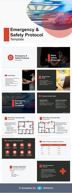 Emergency and Safety Protocols are always a good practice to implement in companies all sizes. These are not only to be prepared and used during critical times, but to be written, updated, and shared in a preventive way. They are normally created by Human Resources or H&S departments. This template might come in handy to craft your own.