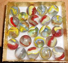 BOXED MISC D.A.S. MARBLES-Dave McCullough-WEST VIRGINIA- BOX 5 #DAS #Glass