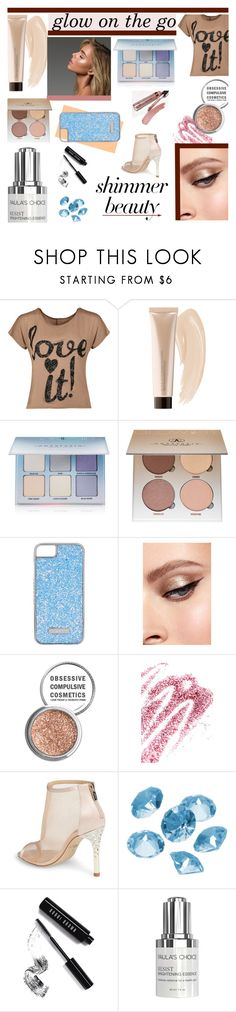 """""""glow on the go"""" by andreamilles ❤ liked on Polyvore featuring beauty, WearAll, Sephora Collection, Anastasia Beverly Hills, Skinnydip, Obsessive Compulsive Cosmetics, Badgley Mischka, Blue La Rue, Bobbi Brown Cosmetics and Paula's Choice"""