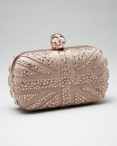 yes yes yes I need you... Crystal Britannia Box Clutch, Pink by Alexander McQueen at Bergdorf Goodman. $1995
