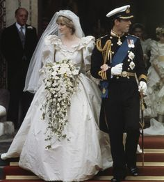 The Elizabeth and David Emmanuel-designed gown - which Diana wore to her nuptials to Prince Charles in London in 1981.