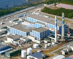 An aerial view of the Shika nuclear power plant in Ishikawa Prefecture: The focus of the recent study was on three faults that run under the plant. And they are hoping to restart it!! - Asahi Shimbun