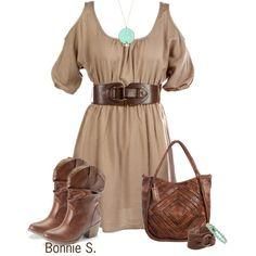 i like the dress and I think I may own those boots