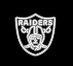 00b38288d Oakland Raiders Neon Sign Oakland Raiders Fans
