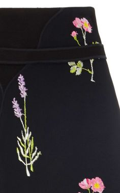 Floral High Waist Mini Skirt by GIAMBATTISTA VALLI for Preorder on Moda Operandi