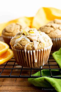 Gluten Free Desserts, Vegan Desserts, Vegan Recipes, Flour Recipes, Free Recipes, Vegan Sweets, Almond Muffins, Vegan Muffins, Vegetarian Muffins