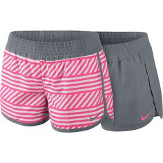 NIKE Womens West Reversible Beach Shorts in Grey/Pink. Like, Comment, Repin !!