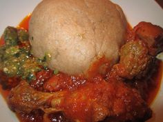 nigerian okro soup and stew and amala