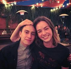 Bridget W/ co-star & friend Keir Gilchrist Orphan Black, Movies And Tv Shows, Series Movies, Tv Series, Bts Behind The Scene, Behind The Scenes, Grey's Anatomy, Casey Atypical, Brigette Lundy Paine