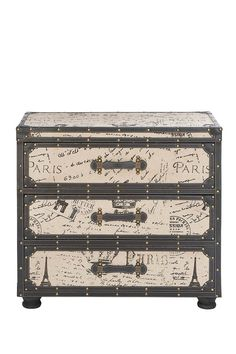 Ce Soir Storage Trunk - Beige/Brown on HauteLook