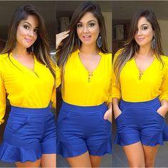 A #donaligirl @carol_rabelo já garantiu seu #look para torcer muito pela nossa seleção!!!! É Brasil!!!  #ébrasil #torcidadonali #torcidabrasil #donalinacopa #fashion #moda #dujour #lookdodia #lookoftheday #vempradonali