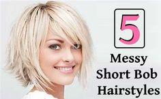 5 Messy Short Bob Hairstyles |