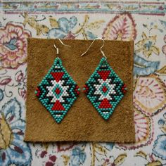 Beaded Earrings Native American Inspired