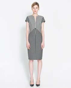10. Houndstooth  Houndstooth, a textile pattern synonymous with heritage design and tradition, was big on the AW13 catwalks, featuring at both Dior and Mulberry. As always, Zara is bang on trend with this cute dress for the office, already in-store and online. (Houndstooth dress, Zara)