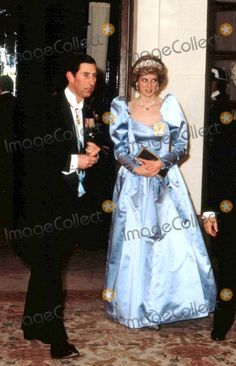 Princess Diana with Prince Charles at a Reception Gives by the King and Queen of Spain 4-24-1986 Photo by Uppa-ipol-Globe Photos, Inc.