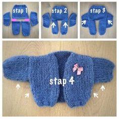 Breien poppenvestje Baby Knitting Patterns, Doll Patterns, Clothing Patterns, Brei Baby, Baby Born Clothes, Baby Pop, Crochet Doll Clothes, Baby Vest, Knitting Videos