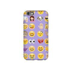 purple emoji iPhone Plus 6 Tough Case ($30) ❤ liked on Polyvore featuring accessories, tech accessories, emoji and purple emoji