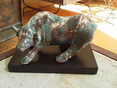 Decoupage, Lion Sculpture, Metal, Animals, Pasta Piedra, Hobbies, Drybrush, Plastering, Craft