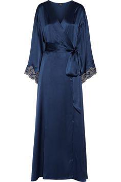 95c5998397 La Perla - Maison lace-trimmed silk-satin robe
